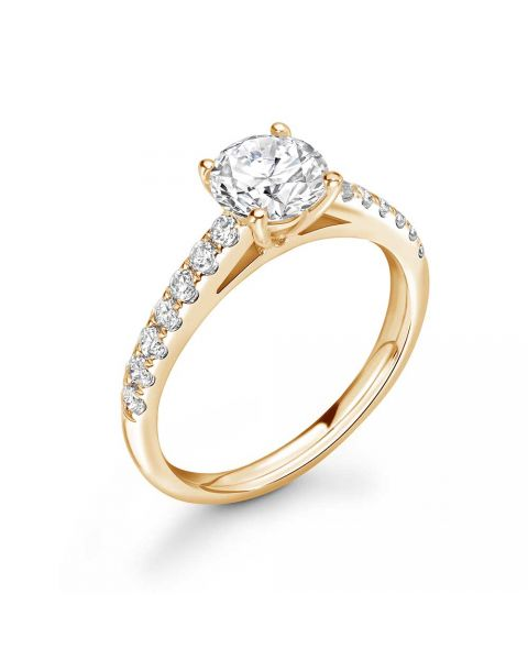 Elizabeth with 0.23 Carat Round Diamond